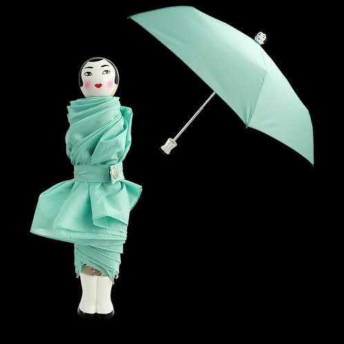Pylones Rain Parade Compact Umbrella - Blue