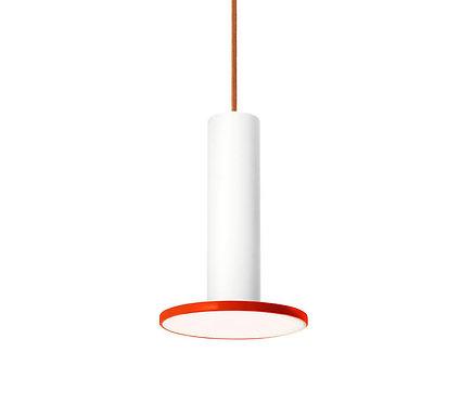 """Pablo Cielo 9"""" Pendant- White/ Tomato-Copper Cord"""