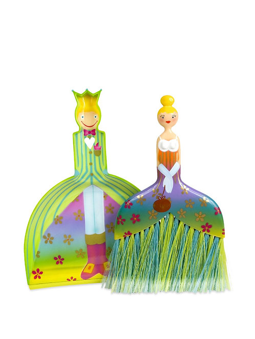 Pylones Cendrillon  Dustpan and Brush - Green
