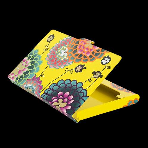 "Pylones ""Busy"" Aluminium Business Card Holder - Dahlia"