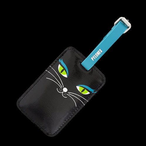 Pylones TA. Voyage Luggage Label - Black Cat