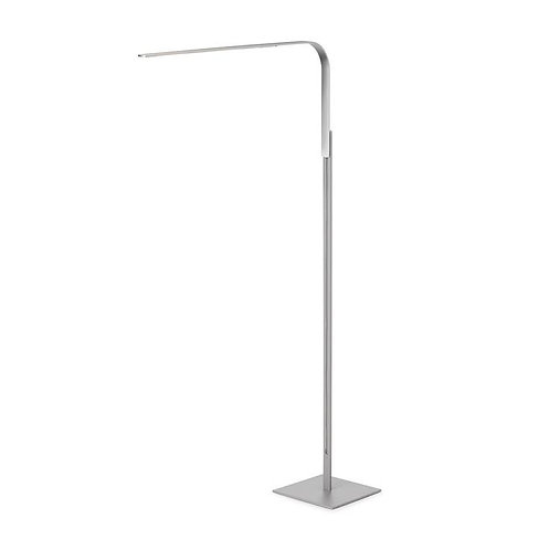 Pablo LIM L Arm w/ Floor Base- Brushed Silver