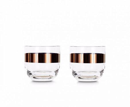 TANK WHISKEY GLASSES COPPER X2