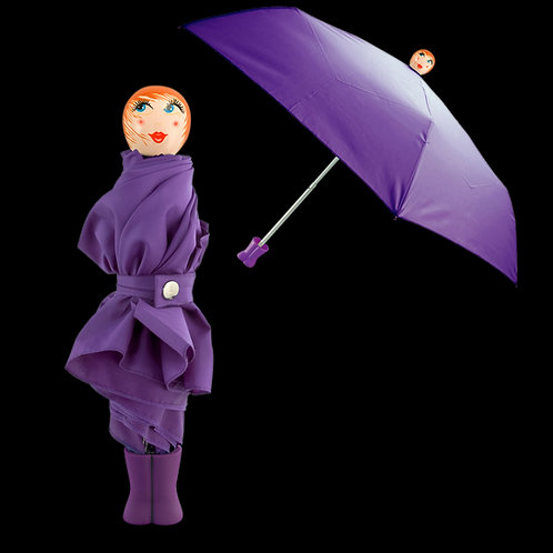 Pylones Rain Parade Compact Umbrella - Purple