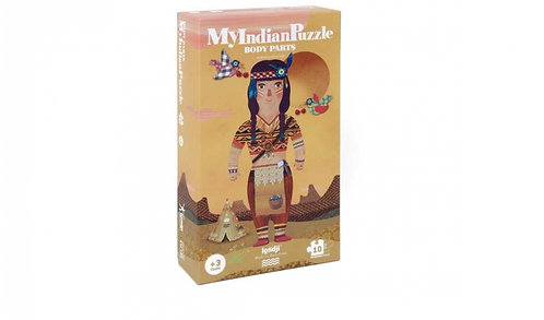MY INDIAN Reversible, Educational Jigsaw Puzzle