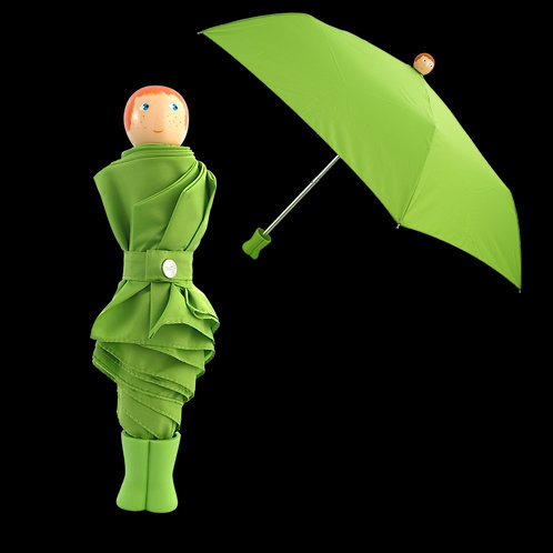 Pylones Rain Parade Compact Umbrella - Green