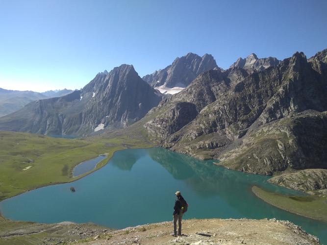 Twin lakes of Kashmir