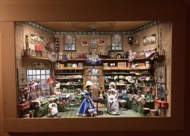 Miniature Collection Tableau of Dress Shop