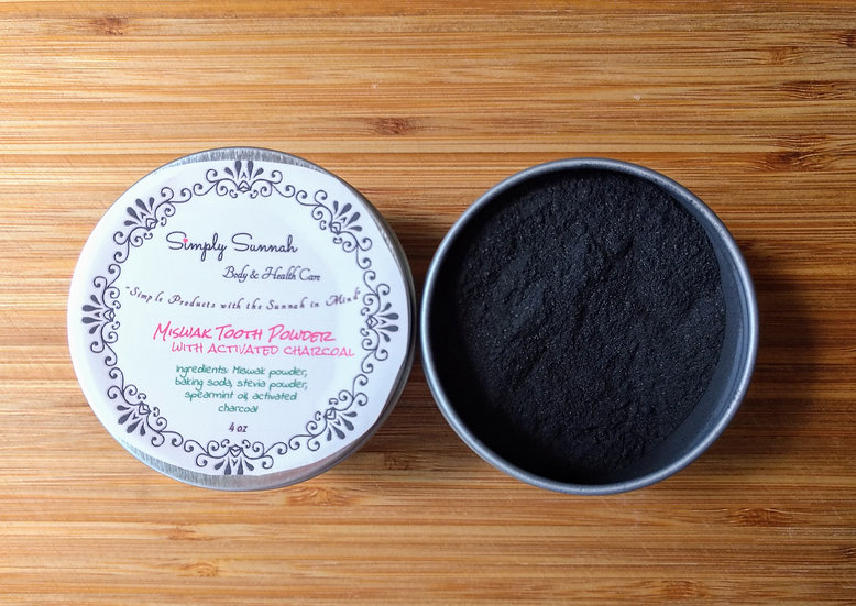 Miswak & Activated Charcoal Tooth Powder