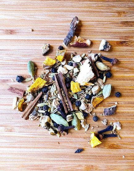herbal tea, spicy tea, spicy masala, spicy chai, organic tea, loose herbal tea