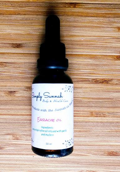 ear oil, olive oil, black seed oil, earaches, earache oil