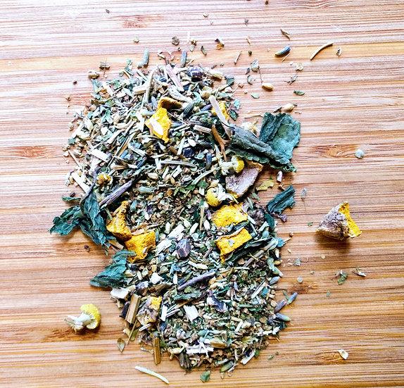 headache tea, fever tea, herbs for headaches, headache and fevers