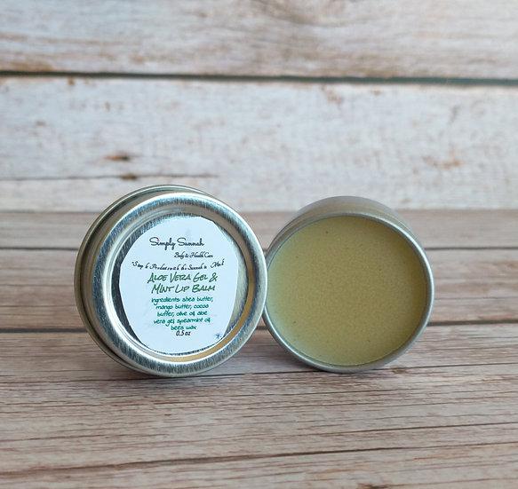 Aloe Vera Gel & Mint Lip Balm