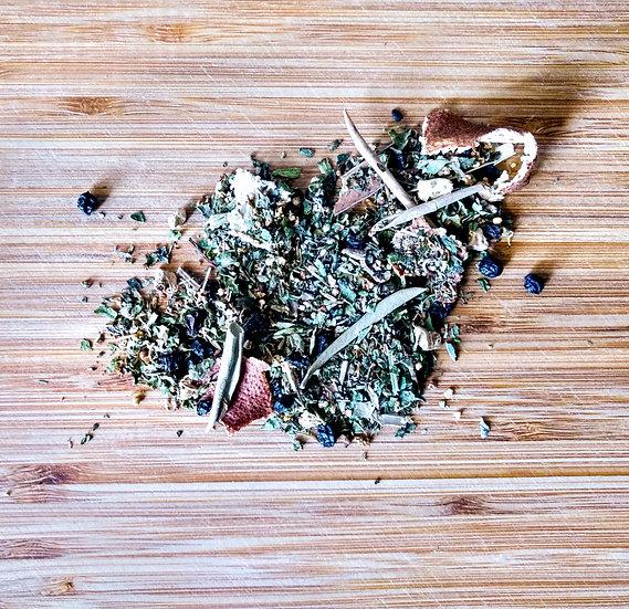echinacea, sick, cold and flu, runny nose, orange peel, virus, green tea, herbal tea, organic, vegan