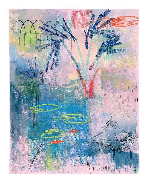'By The Pond, Penzance' ORIGINAL