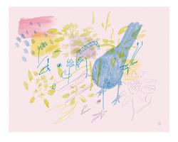 'Blackbird, Spring Garden'