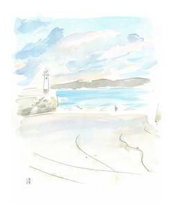 'Apricot Sky, St Ives'