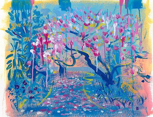 'Magnolia Tree, Morab Gardens' ORIGINAL