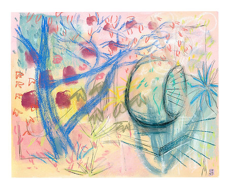 'Barbara Hepworth Garden, Autumn' ORIGINAL