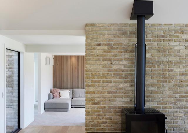 Country brick and cedar home