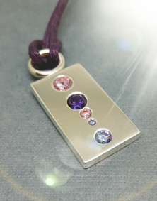 Stone setting exercise with cubic zirconia.