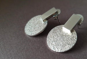 'Sofia' earrings in silver. Designed in 2019