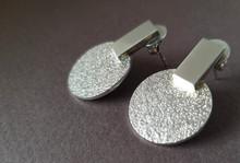 'Sofia' earrings in silver. Designed in 2019