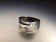 'Taurus' unique silver ring. Designed and crafted in 2020.