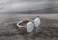 Unique custom made silver ring. Designed and crafted in 2020.