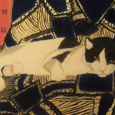 godzuki in blue chair