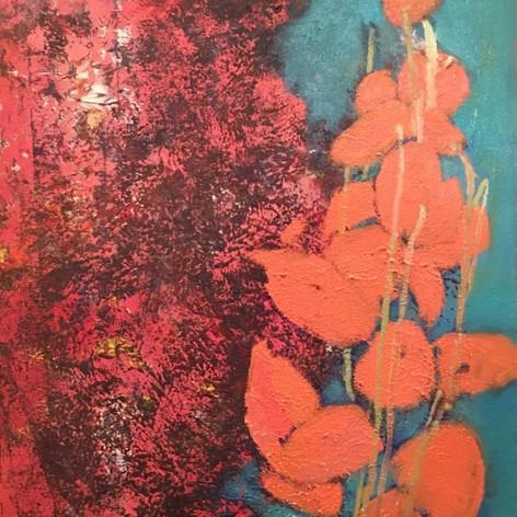 orange podflower