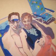 bob & emanuela at the beach