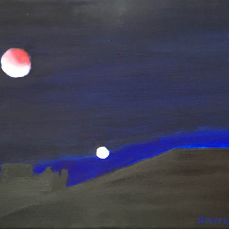 red moon and mars