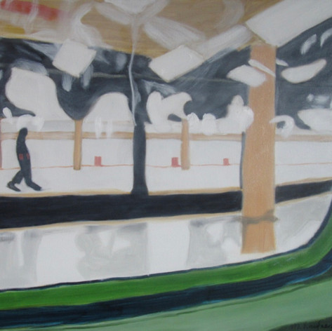 platform view from subway window