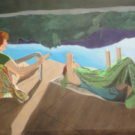Em & Artist at Rota Lake
