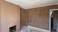 An image of a fresh plastered room with 3 walls. The image was taken in Bromley, Kent
