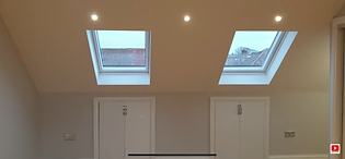 Two roof windows in a loft conversion lo
