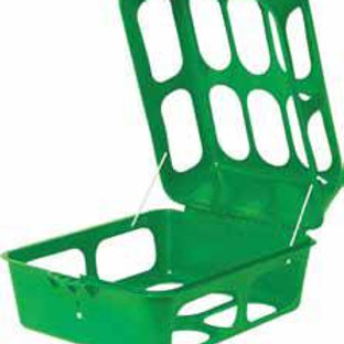 "2 Pack Hay Feeder Health EZ Feeder ""Cube"" GREEN ONLY"