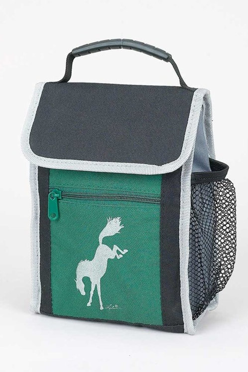 Lunch Sack Forest Green-Bucking Horse
