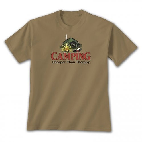 Camping is Cheaper than Therapy T-Shirt