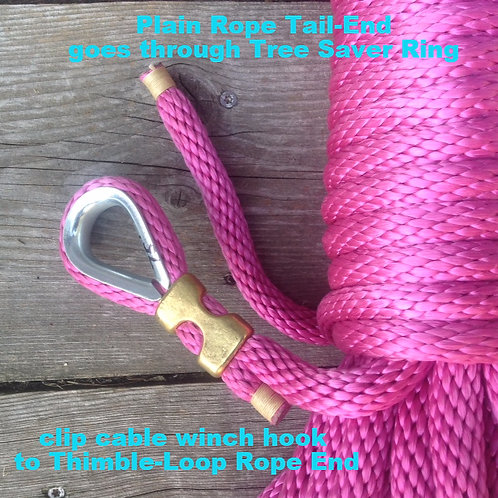 SHHL Rope ONLY 100' w/Thimble Loop-End, 5/8""