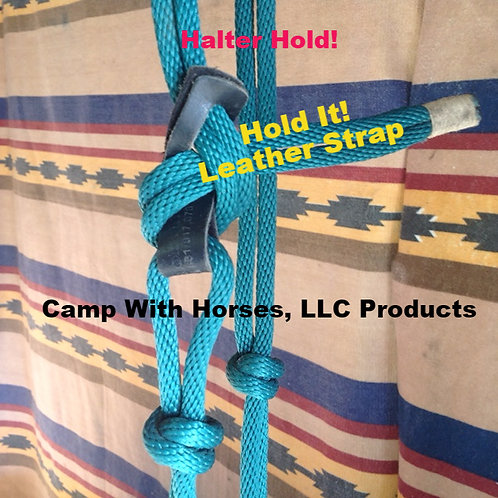 """Halter Hold-It"" Strap/Leather 2PK Blk plain"