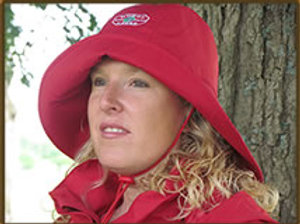Muddy Creek Rain Rider HAT Red