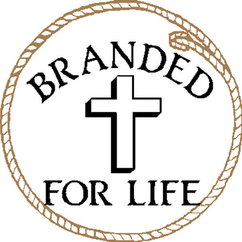 "DecalMini-""Branded for Life"" Cross braided circle"