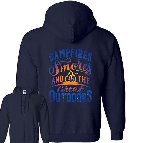 """""""Great Outdoors"""" Sweatshirt Zipper-FRONT"""