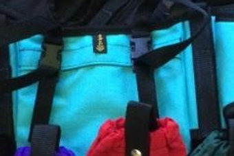 Pommel Bags w/Secure-On Straps Turquoise