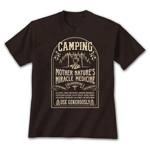 Camping Mother Nature's Cure T-Shirt