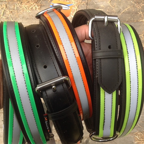 Horse High Line Collar--Red (cobb to large horse)