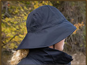 Muddy Creek Rain Rider Hat Black