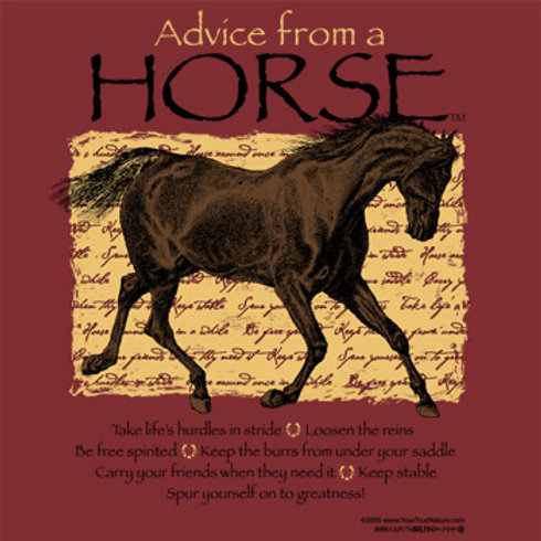 Advise from is a Horse Series; see other items